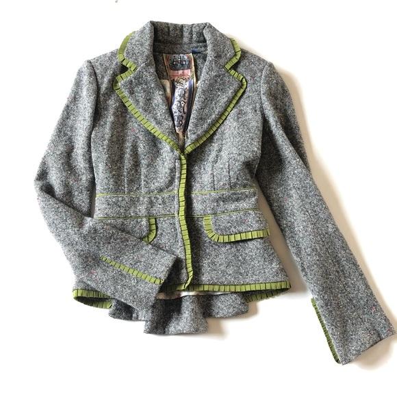 L.A.M.B. Jackets & Blazers - L.A.M.B. Pleated Tweed Blazer Like New EUC by LAMB